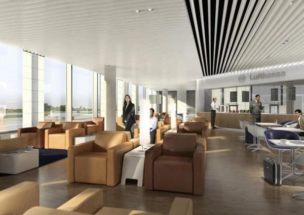 Lufthansa-Lounge im künftigen T2-Satellitengebäude auf dem Flughafen München (© Lufthansa)