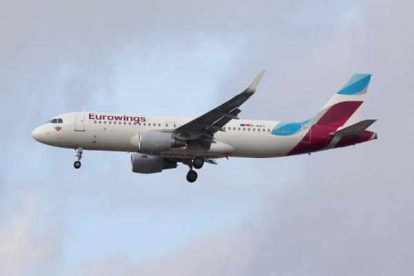 Eurowings Airbus A320 im Endanflug (© O. Pritzkow)