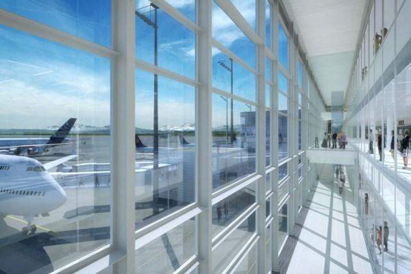 Klima-Fassade im Satellitenterminal T2 des Münchener Flughafens (© Koch+Partner)
