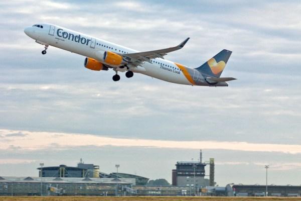 Start eines Airbus A321 der Condor (© Flughafen Leipzig)