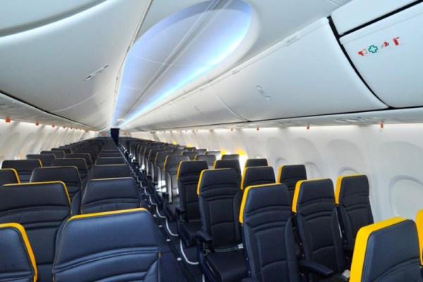 Neue Ryanair-Kabine mit Boeing Sky Interior (© Ryanair)