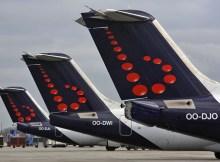 Leitwerke von Flugzeugen der Brussels Airlines (© Brussels Airlines)