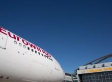 Airbus A330 der Eurowings bei Lufthansa Technik (© LHT)