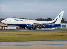 Boeing 737-800 der Blue Air (© HAM Airport)