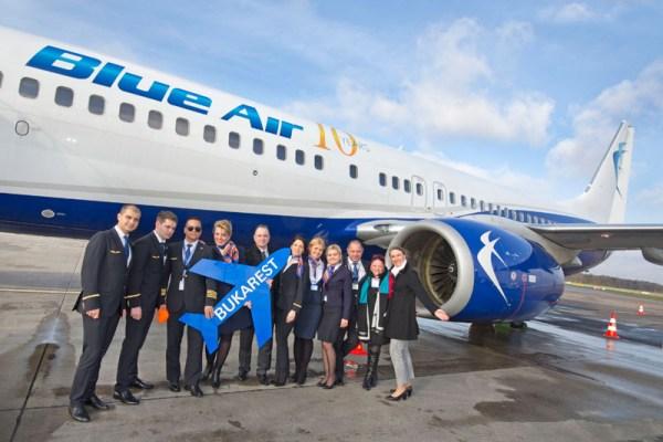 Eröffnung der Verbindung Bukarest-Hamburg-Bukarest durch Blue Air am 29.3.2016 (© HAM Airport)