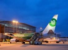 Boeing 737-700 der Germania am Flughafen Dresden (© MDF AG)