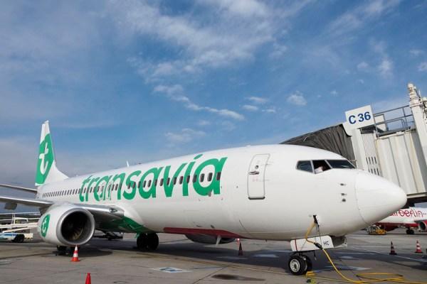 Transavia 737 am Flughafen Wien