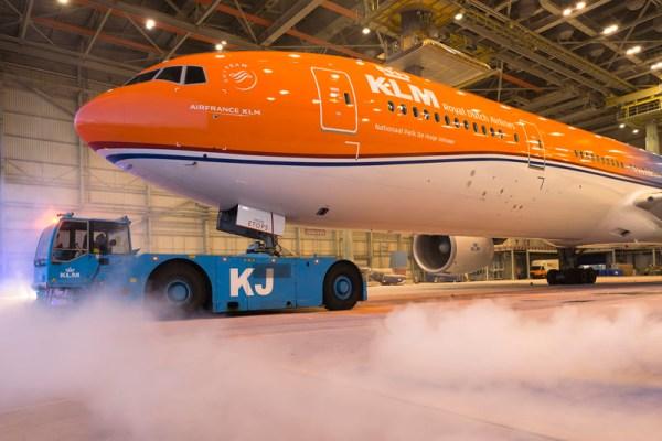 Boeing 777-300ER in Nationalfarben (© KLM)