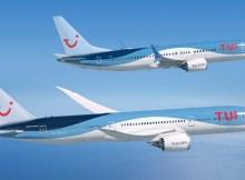 Boeing 787-9 und 737 MAX 8 in den Farben der TUI (© Boeing)