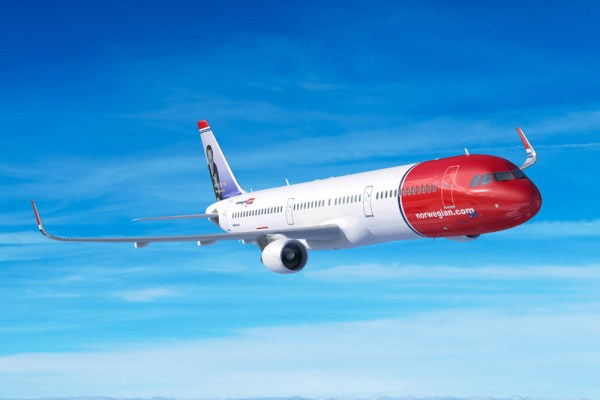 Airbus A321LR in Norwegian-Bemalung (© Airbus)
