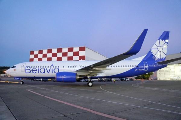 Boeing 737-800 in den neuen Farben der Belavia (© Boeing)