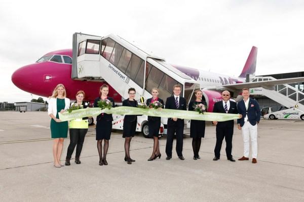Eröffnung der neuen Route Nis-Dortmund-Nis durch Wizz Air am 20.8. 2016 (© DTM Airport)