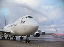 Begrüßung der Air Atlanta Boeing 747 auf dem Hahn