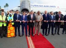 Feierliche Begrüßung auf Sansibar (© Turkish Airlines)