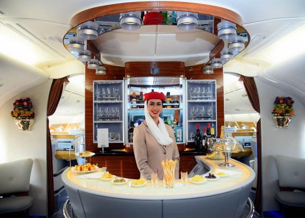 Lounge im A380 (© Emirates)