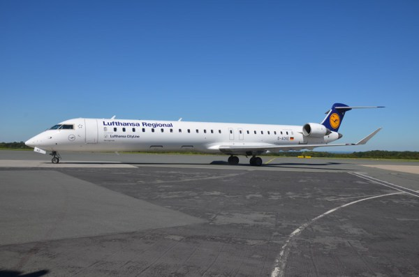 Bombardier CRJ900 der Lufthansa Cityline (© PAD Airport)