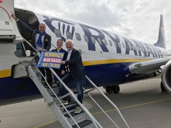 Ryanair macht Memmingen zur 86. Basis (© Ryanair)