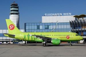 Airbus A319 der S7 Airlines (© Flughafen Wien)