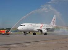 Begrüßung des Erstflugs aus Tabriz (© HAM Airport)