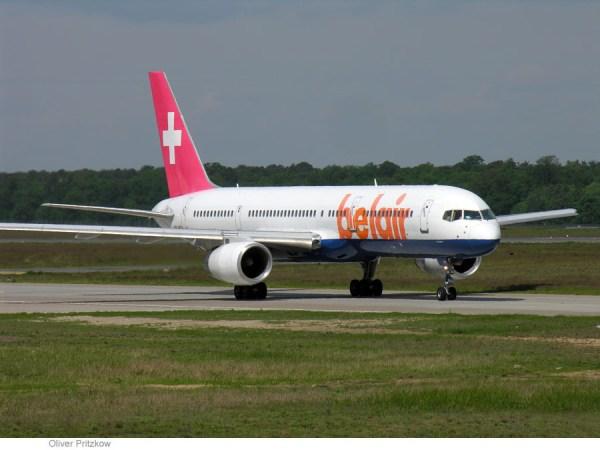 Boeing 757-200 der Belair im Jahr 2005 (© O. Pritzkow)