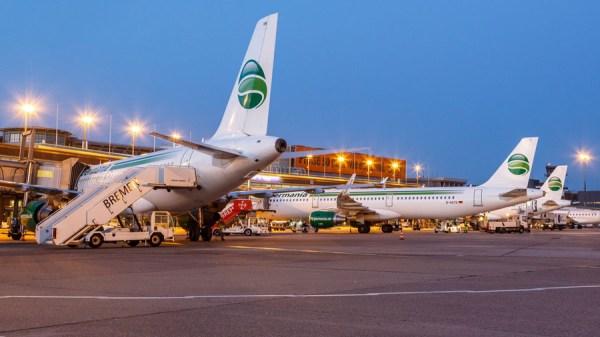 Airbus-Flugzeuge der Germania in Bremen (© Karsten Kießling, Germania)