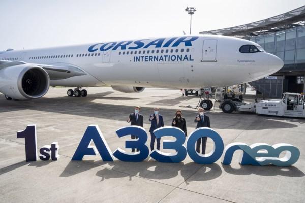 Übergabe des ersten A330neo an Corsair (Foto: Airbus)