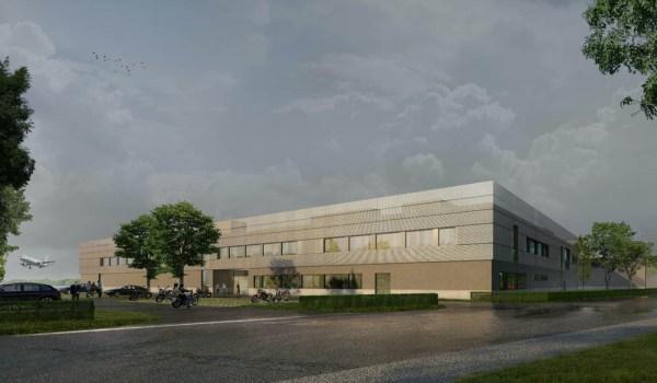 Auf dem 27.000 m² großen Grundstück, das derzeit als Parkplatz 3 genutzt wird, entsteht ein Gebäudeensemble, deren Strukturen und Ausstattungen auf die Anforderungen von Polizeigebäuden ausgerichtet sind. (Bildnachweis: Nattler Architekten Essen)