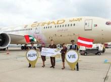 Eröffnung der Route Abu Dhabi - Wien durch Etihad am 18.7.2021 (Foto: Flughafen Wien)