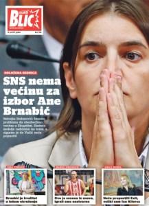 Serbien-Ana Brnabić-Zeitung