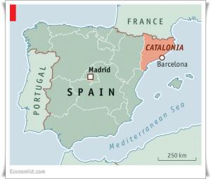 Katalonien-Landkarte