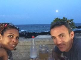 We made it to the isle of Sicily Giardini-Naxos Full moon dinner