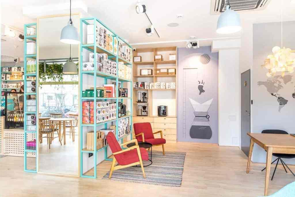 Coffeedesk retail shelf
