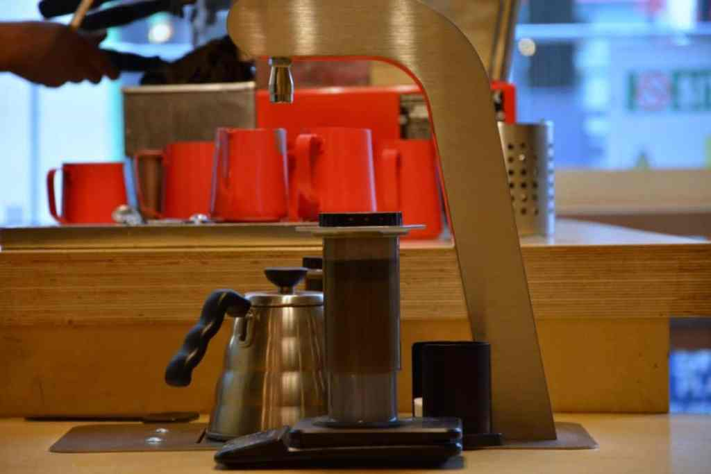 Brewing station at Urbanity Coffee