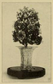 Flower bouquet made of human hair