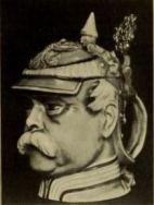 Beer mug in the form of Bismarck's head