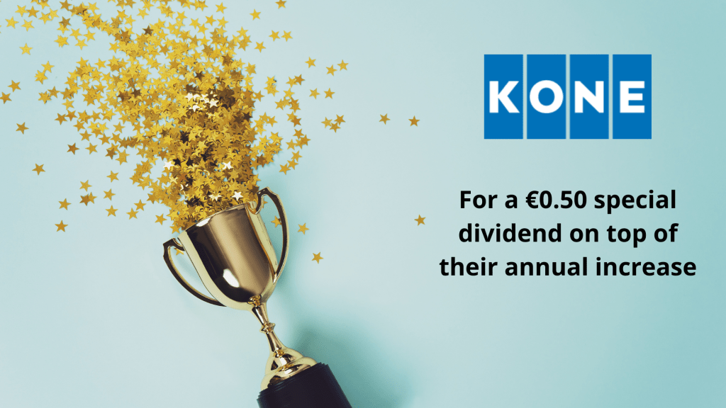 Koney Oyj Special Dividend 2020 - January dividend announcements