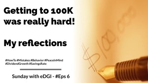 Read more about the article Getting to the first 100K was hard – My reflections | Sunday with eDGI | Eps #6