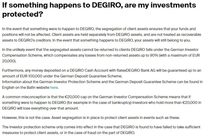 DEGIRO regulatory supervision