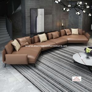 Premium Italian Leather Sectional