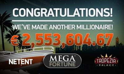 NetEnt's Mega Fortune™ slot secures SlotMillion's first ever millionaire