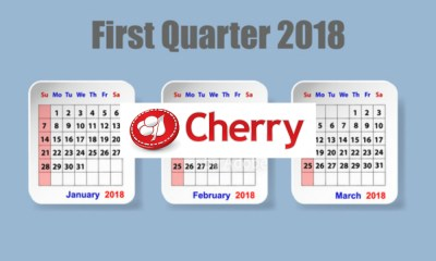 Cherry AB's first quarter 2018