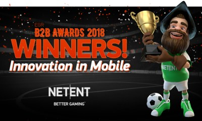 NetEnt underlines another year of achievement with EGR B2B Awards win