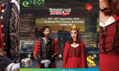 EGT Interactive at Entertainment Arena Expo, Romania Stand 206, ROMEXPO Fair Ground, Bucharest 3th - 5th of September