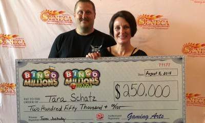 Lucky Player Wins Largest Bingo Payout in Western New York History Playing Gaming Arts' Super Coverall Bingo™ at Seneca Gaming and Entertainment