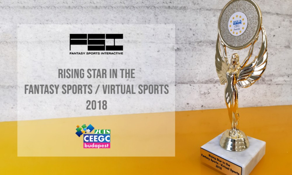 Fantasy Sports Interactive bags CEEGC 2018 award