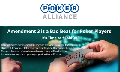 Poker Alliance Urging Members and All Florida Voters to Vote No on 3