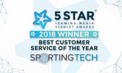 Sportingtech won the Best Customer Service Award 2018