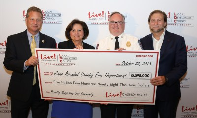 The Cordish Companies' Live! Casino & Hotel And The Anne Arundel County Local Development Council Award $19 Million In Local Impact And Community Grants For FY2019