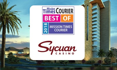 Sycuan Awarded Best Casino from 2018 Best of Mission Times Courier