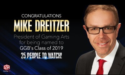 Gaming Arts President Mike Dreitzer Named to '25 People to Watch' in Gaming For 2019